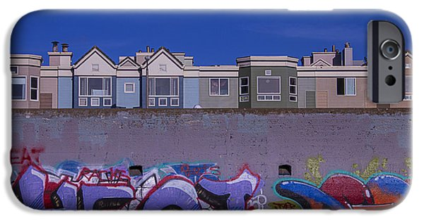Sea iPhone Cases - San Francisco Graffiti iPhone Case by Garry Gay