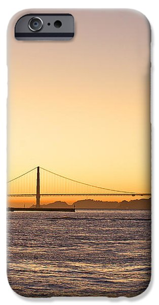 San Francisco Harbor Golden Gate Bridge at Sunset iPhone Case by Artist and Photographer Laura Wrede