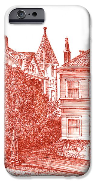 Sepia Ink Drawings iPhone Cases - San Francisco Jackson Street iPhone Case by Irina Sztukowski