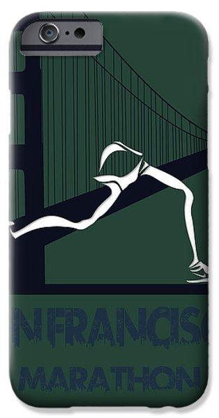 Big Sur iPhone Cases - San Francisco Marathon iPhone Case by Joe Hamilton