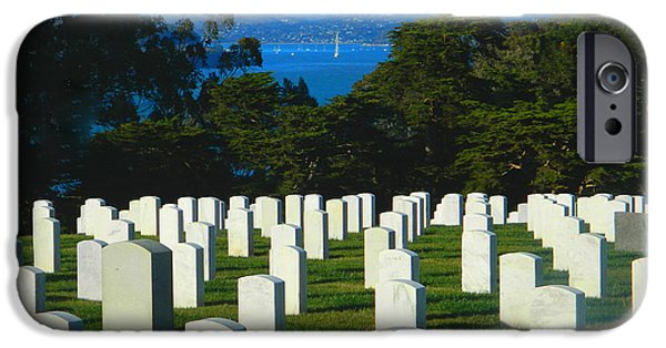 Soldiers National Cemetery Digital iPhone Cases - San Francisco National Cemetery In El Presidio iPhone Case by Emmy Marie Vickers