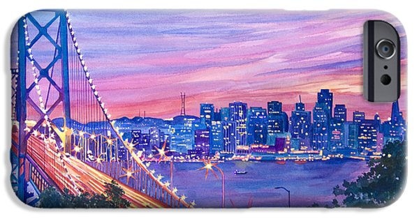 Best Sellers -  - Bay Bridge iPhone Cases - San Francisco Nights iPhone Case by David Lloyd Glover