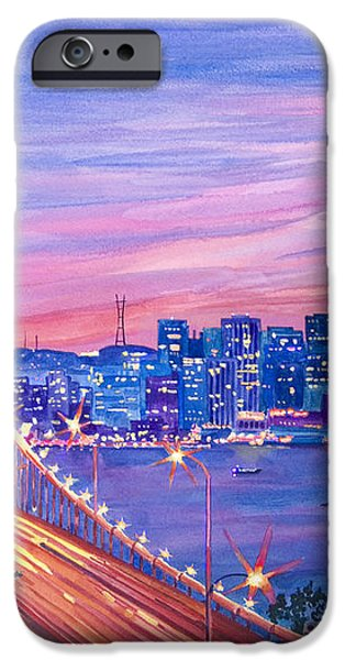 San Francisco Nights iPhone Case by David Lloyd Glover