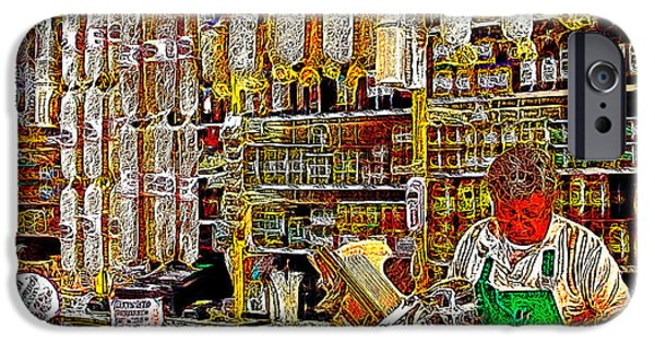 Delicatessen iPhone Cases - San Francisco North Beach Deli 20130505v1 iPhone Case by Wingsdomain Art and Photography
