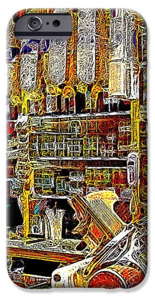 San Francisco North Beach Deli 20130505v1 iPhone Case by Wingsdomain Art and Photography