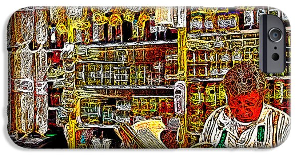 Delicatessen iPhone Cases - San Francisco North Beach Deli 20130505v2 square iPhone Case by Wingsdomain Art and Photography