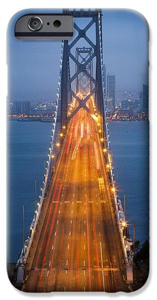 Bay Bridge iPhone Cases - San Francisco - Oakland Bay Bridge iPhone Case by Adam Romanowicz