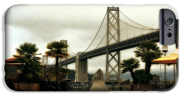 Oakland Bay Bridge iPhone Cases - San Francisco Oakland Bay Bridge iPhone Case by Michelle Calkins