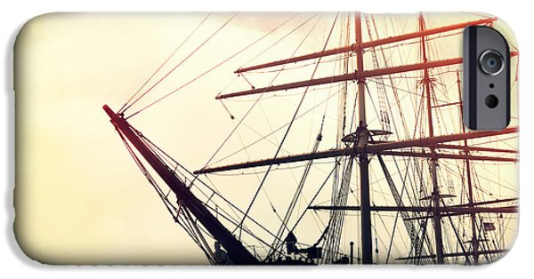 Pirate Ship iPhone Cases - San Francisco Ship I iPhone Case by Chris Andruskiewicz