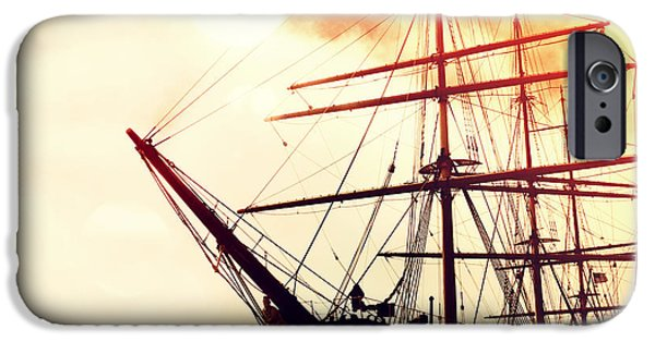 Pirate Ship iPhone Cases - San Francisco Ship III iPhone Case by Chris Andruskiewicz