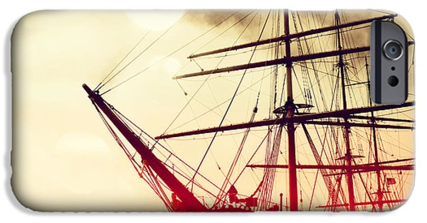 Pirate Ship iPhone Cases - San Francisco Ship IIII iPhone Case by Chris Andruskiewicz