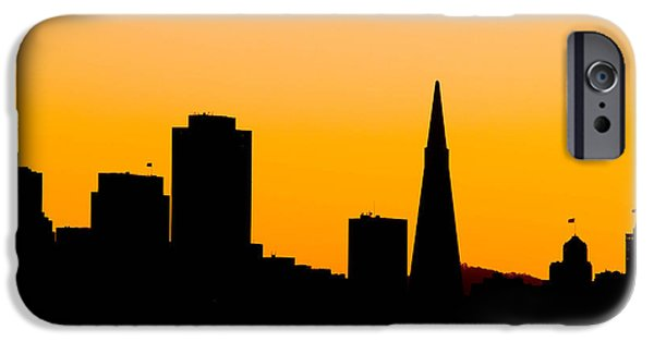 Silhoette iPhone Cases - San Francisco Silhouette iPhone Case by Bill Gallagher
