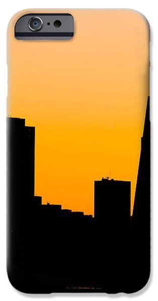 San Francisco Silhouette iPhone Case by Bill Gallagher