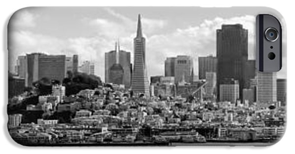 Alcatraz iPhone Cases - San Francisco Skyline iPhone Case by Daniel Hagerman