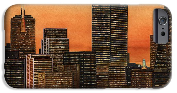 Bay Area iPhone Cases - San Francisco Skyline iPhone Case by Karen Wright