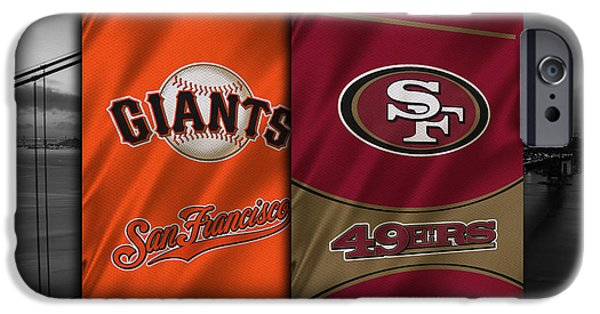 Baseball Uniform iPhone Cases - San Francisco Sports Teams iPhone Case by Joe Hamilton
