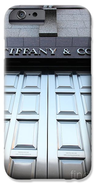 San Francisco Tiffany and Company Store Doors - 5D20562 iPhone Case by Wingsdomain Art and Photography