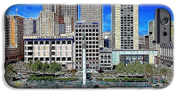 Nike iPhone Cases - San Francisco Union Square 5D17938 Artwork iPhone Case by Wingsdomain Art and Photography