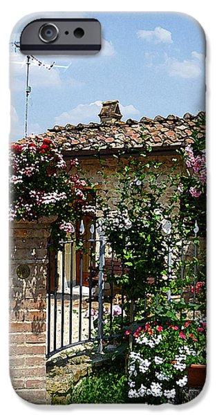 Old Churches iPhone Cases - San Gimignano Beauty Of Tuscany  iPhone Case by Irina Sztukowski