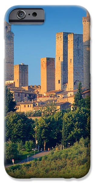 San Gimignano Skyline iPhone Case by Inge Johnsson