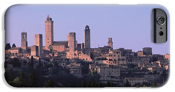 Pinkish iPhone Cases - San Gimignano, Tuscany, Italy iPhone Case by Panoramic Images