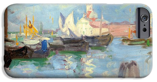 Water Vessels Paintings iPhone Cases - San Giorgio Maggiore  Venice iPhone Case by Francis Campbell Boileau Cadell