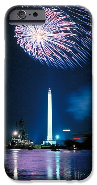 4th July iPhone Cases - San Jacinto Monument iPhone Case by Sam C Pierson Jr