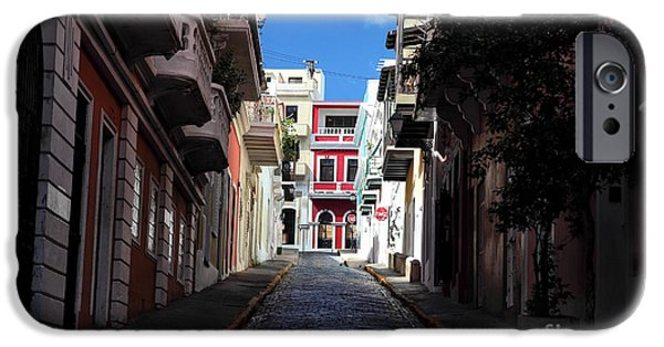 Interior Scene iPhone Cases - San Juan Alley iPhone Case by John Rizzuto