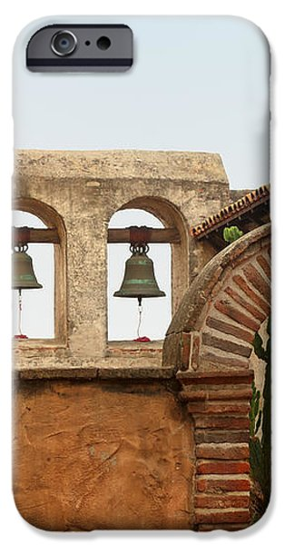 San Juan Capistrano Mission - Photography by Jo Ann Tomaselli iPhone Case by Jo Ann Tomaselli