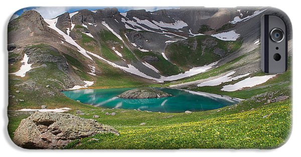 Meadow Photographs iPhone Cases - San Juan Green iPhone Case by Aaron Spong