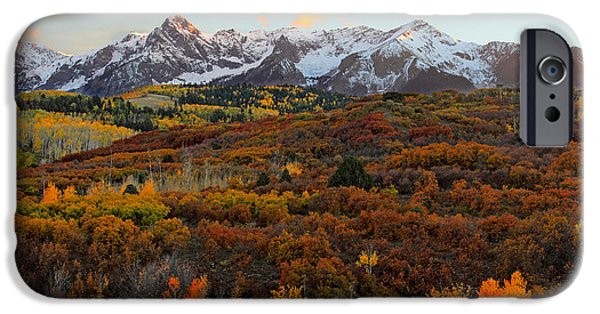 River Pyrography iPhone Cases - Colorado San Juan Mountains Fall 2014 iPhone Case by Brett Pfister