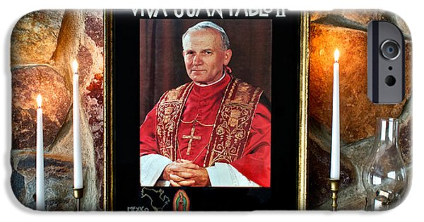 Pope iPhone Cases - San Juan Pablo II iPhone Case by Mark Miller