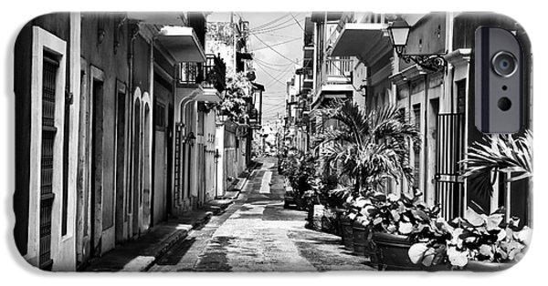 Interior Scene iPhone Cases - San Juan Street Plants iPhone Case by John Rizzuto