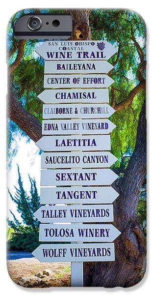 Winetasting iPhone Cases - San Luis Obispo Coastal Wine Trail iPhone Case by Priya Ghose