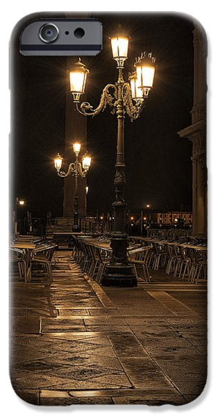 Piazza San Marco iPhone Cases - San Marco cafe iPhone Case by Marion Galt