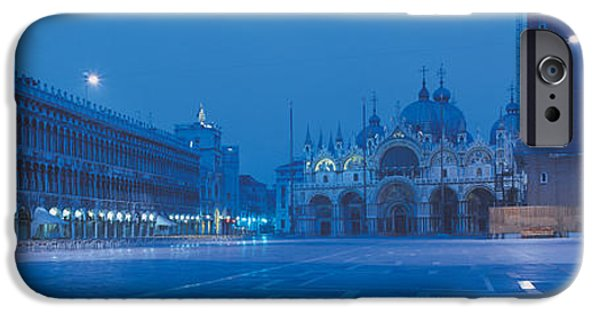 Piazza San Marco iPhone Cases - San Marco Square Venice Italy iPhone Case by Panoramic Images