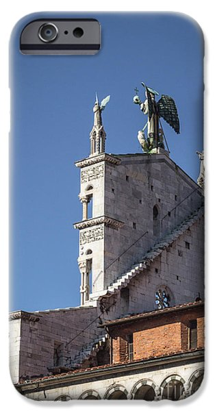 Michelle iPhone Cases - San Michele in Foro back side iPhone Case by Prints of Italy