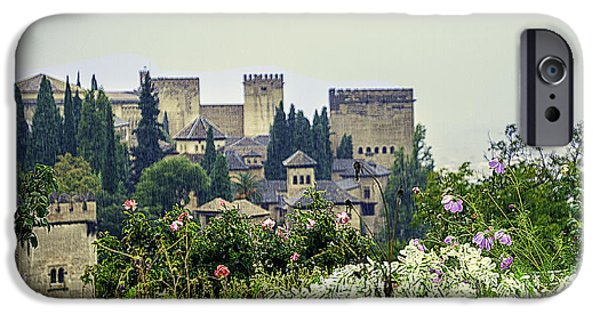 Rainy Day iPhone Cases - San Nicolas View Of The Alhambra - Spain iPhone Case by Madeline Ellis