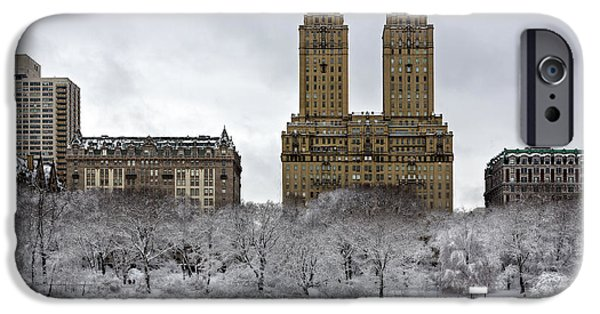 Best Sellers -  - Snow iPhone Cases - San Remo Towers Central Park NYC iPhone Case by Susan Candelario