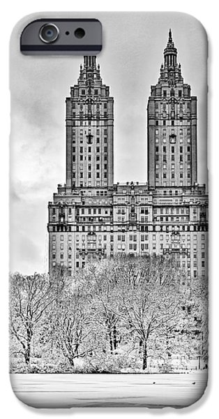 Snow iPhone Cases - San Remo Towers NYC iPhone Case by Susan Candelario
