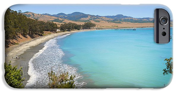 Sand Castles iPhone Cases - San Simeon Bay iPhone Case by Lynn Bauer