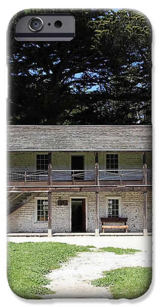 Sanchez Adobe Pacifica California 5D22644 iPhone Case by Wingsdomain Art and Photography