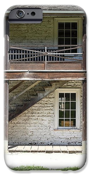 Sanchez Adobe Pacifica California 5D22655 iPhone Case by Wingsdomain Art and Photography
