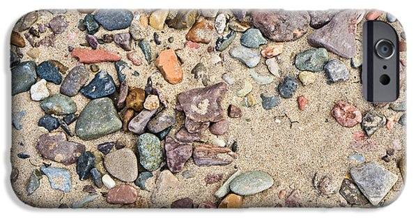 Abtracts iPhone Cases - Sand and pebbles iPhone Case by Tom Gowanlock
