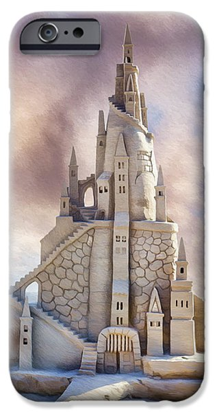 Sand Castles Digital Art iPhone Cases - Sand Castle iPhone Case by Donna Kirby