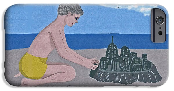Sand Castles Digital Art iPhone Cases - Sand Castle iPhone Case by Fred Jinkins