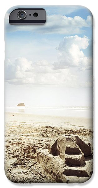 Sand Castles iPhone Cases - Sand castle iPhone Case by Les Cunliffe