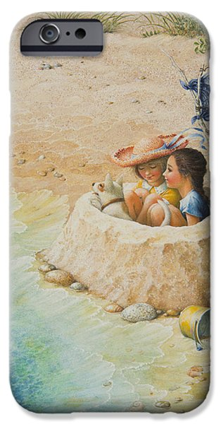 Sand Castles iPhone Cases - Sand Castle iPhone Case by Lynn Bywaters