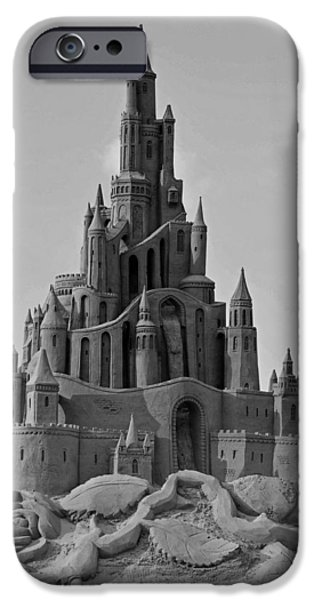 Sand Castles iPhone Cases - Sand Castle iPhone Case by Katrin Bellyeu