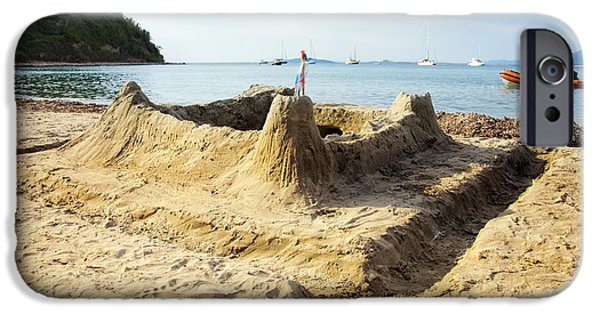 Sand Castles iPhone Cases - Sand castle iPhone Case by Sinisa Botas